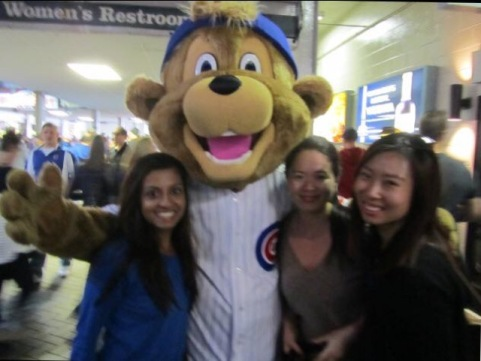 My colleagues and I were able to catch a Cubs game